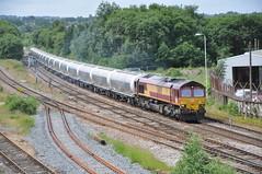 66139 Ainsworth Bridge 30-6-16. (Blackburns Railway Scene) Tags: 66139 dbschenker ews sheds 6m90 cement ainsworthbridge ipas