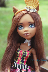 IMG_8290 (Cleo6666) Tags: mattel monsterhigh monster high clawdeen clawdeen17 ooak custom repaint doll