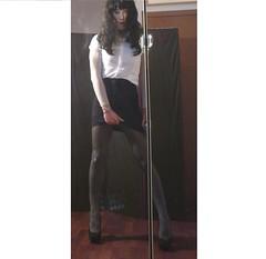 Too short... (Julia Cool) Tags: stockings cool highheels julia tights tgirl transgender sissy transvestite heels hosiery amateur pantyhose trap nylon calze strumpfhosen collant transgenderpantyhose juliacool