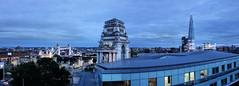 Blue Hour (andtor) Tags: london rx100 photoshop towerbridge toweroflondon theshard trinitysquare night abend nightshot panorama skylounge doubletreetoweroflondon hilton hotel dachterrasse blauestunde bluehour uk greatbritain
