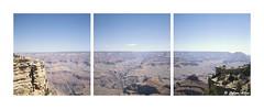 Triptych of The Grand Canyon (Daiku_San) Tags: film ishootfilm colorfilm slidefilm expiredfilm 120 wlf tlr triptych widelust usetheforce grandcanyon grandcanyonnationalpark nationalpark nps rolleiflex28c carlzeissplanar8028 kodakektachrome64x epx epsonv500