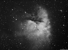 NGC281 1st CCD Image (alastair.woodward) Tags: ngc281 astronomy astrophotography pacman nebula mono ha hydrogen alpha skywatcher 130pds qhy img2pro ccd 6nm clip filter astronomik heq5 pro goto