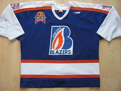 Kamloops Blazers 1998 - 1999 Game Worn Jersey (kirusgamewornjerseys) Tags: gaineykamloops kamloops blazers game worn jersey gainey whl ice hockey