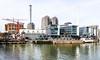 Frankfurts Heizkraftwerk - inmitten von Wohnen und Arbeiten (JohannFFM) Tags: am frankfurt main westhafen heizkraftwerk wohnen gutleutviertel flus mainova