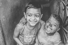 brotherhood (Salmi Kabir) Tags: life camera portrait bw man colour festival lens photo nikon flickr all post faces photos contest about dhaka hindu holi bangladesh kabir chidren d90 salmi womwn shakharibazar kabirsalmi
