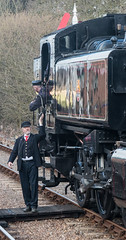 Transferrring the token (CdL Creative) Tags: england train canon geotagged eos unitedkingdom norfolk railway steam holt eastanglia 70d poppyline highkelling cdlcreative nr25 geo:lat=529123 geo:lon=11133