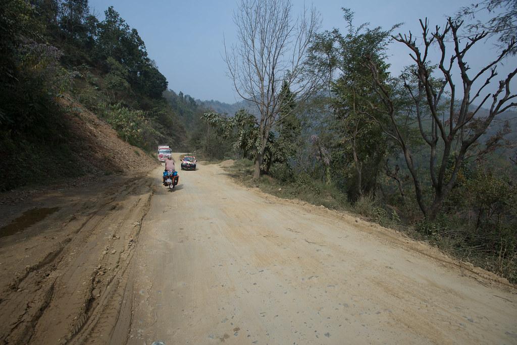 Narrow dirt roads