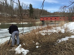 Video By The Hoosic River (New York NOW) Tags: county bridge blue winter sky snow river washington spring brian covered cameraman flynn videographer buskirk rensselaer hoosic wmht