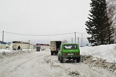 Ein sibirischer Winter (Frhling) (sibwarden) Tags: auto road schnee winter sun snow ski cold ice water sign wasser frost son siberia siberian kalt eis schmutz zeichen sohn sibirien strase dirter wintsun