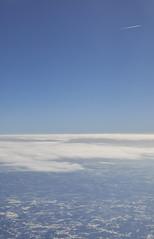 far (_fokus_) Tags: blue sky usa cloud flying fuji condensationtrail flickrfriday xt1 xtrans