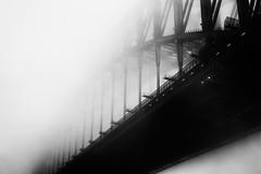 Sydney Harbour Bridge (Leighton Wallis) Tags: fog sunrise dawn sony sydney australia 55mm nsw newsouthwales alpha f18 sydneyharbourbridge milsonspoint mirrorless a7r emount ilce7r