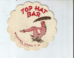 at the Top Hat Bar (912greens) Tags: restaurants retro cocktails coasters partialnudity
