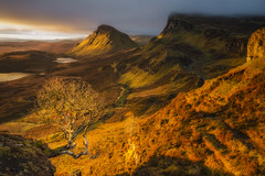 The Quiraing (Vemsteroo) Tags: morning tree skye nature beautiful sunrise canon landscape dawn scotland scenery scenic dramatic 5d westernisles epic rockformations peninsular mkiii trotternish quiraing 2470mm circularpolariser thequiraing ndgrad leefilters