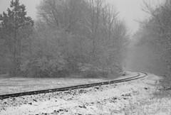 snow on the tracks (ja cour) Tags: winter snow train florence still waiting silent empty alabama tracks lonely snowfall