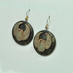 DSC_3571 (JanGeisen) Tags: jewelry egyptian earrings scarab hieroglyph jangeisen