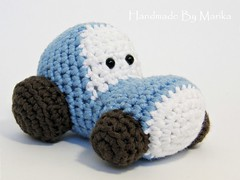 Tractor rattle (muustare) Tags: blue baby tractor cute soft handmade crochet yarn softie cotton organic etsy amigurumi crocheted teether rattle babytoy babyrattle bymarika handmadebymarika