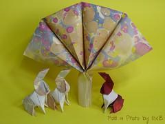 The French Easter Connection (esli24) Tags: tree easter origami hare ostern arbre easterbunny osterhase origamitree papierfalten origamihare barthdunkan esli24 ilsez vivianeberty origamiosterhase origamiabre origamibaum origamiwunderbaum