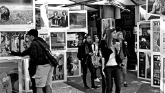 People & Fotos (holyfnger ( Today not running after Lara Croft)) Tags: people blackandwhite germany poster fotos konstanz badenwrttemberg unikonstanz