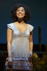 """Alexandra Ncube in the Broadway Sacramento presentation of """"The Book of Mormon"""" at the Sacramento Community Center Theater March 9 – 20, 2016. Photo by Joan Marcus."""