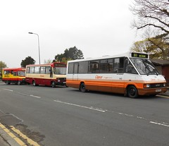 Devon General 7, Rhondda 164 and Cardiff Bus 143 (welsh bus 16) Tags: ford 7 beaver transit mercedesbenz barry 164 143 rhondda metrorider cardiffbus optare devongeneral plaxton 709d ctpg a927mdv n143ptg p164tny