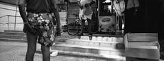the scratch (AllThatMonochrome) Tags: street panorama flower blackwhite pants hasselblad plus hp5 scratch ilford xpan f4 45mm