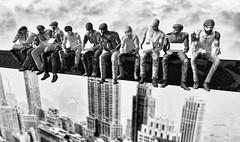 Lunch Time - NY Workers (Roy Mildor CEO of RM ~Art of poses ~) Tags: ny monochrome worker roymildor