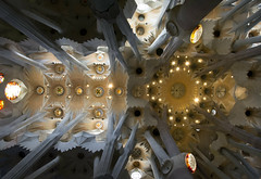 Sagrada Familia (Artur Rydzewski) Tags: barcelona church cathedral architect gaudi sagradafamilia baslica sagradafamlia antonigaud sufit ciling templeexpiatoridelasagradafamlia expiatorychurchoftheholyfamily