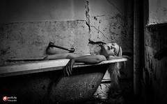 abandoned restroom (straab) Tags: portrait people woman abandoned girl beauty portraits 50mm bath decay dream blond nathalie restroom shooting daydream myview lostplace gutshof nikond750 snrbde
