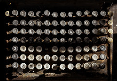 illiterate (polo.d) Tags: old school macro typewriter vintage dark keys book rust keyboard decay letters rusty dramatic numbers button writer azerty