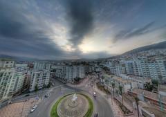 Place Hamama (Yassine Abbadi) Tags: road bridge sea sky cloud mountain beach grass plane sunrise buildings spring hill mosque morocco maroc hdr tetuan tetouan martil bouanane