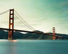 The gate (-Alberto_) Tags: sanfrancisco california longexposure seascape 120film goldengate pentax6x7 fujicolor160