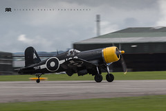 Corsair FG-1D Yeovilton Airday (Rich-Mate) Tags: uk england southwest canon photography war europe fighter photographer technology aircraft aviation military events transport navy somerset location aeroplane airshow commercial ww2 naval takeoff runway raf royalnavy airdisplay royalairforce yeovilton camerabody yeoviltonairshow canon5dmarkiii corsairfg1d yeoviltonairbase