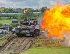 Quick reaction #1 (Clive1945) Tags: ashdowncamp d7100 blast fire army armouredvehicle alvis pyrotechnic
