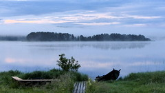 Summer night photography 3 am. at 65N (Lake Jaurakkajrvi, Pudasjrvi, 20160707) (RainoL) Tags: summer mist lake fog night sunrise finland landscape geotagged boat july shore fin pudasjrvi 2016 pohjoispohjanmaa fz200 jaurakkajrvi 201607 20160707 geo:lat=6515956747 geo:lon=2767704963