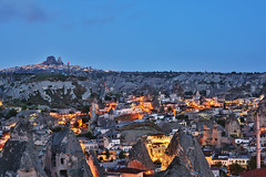 goreme blue hour (eb78) Tags: turkey landscape middleeast bluehour hdr cappadocia anatolia goreme