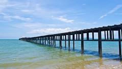 Dream (K.SUPPAWAT) Tags: bridge sea sun pier sand scenery bluesky