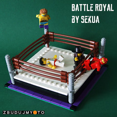 Battle Royal (SEKUAcreations) Tags: fight lego action wrestling bricks royal battle ring wrestler minifigs vignette studs moc afol battleroyal minifigures zbudujmyto