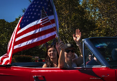 (Abel AP) Tags: people car parade flag americanflag fremont california