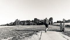 Hole 1 Drive (VBuckley.com) Tags: abendschein park sunset goldenhour bw splittone blackandwhite discgolf frisbeegolf discing wisconsin summer happy josh narvett buckley vincentbuckley abendscheincommunitypark canon 5d fun