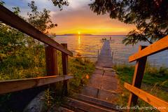 A Settling Sunset ... (Ken Scott) Tags: sunset summer usa dock michigan steps july stairway lakemichigan greatlakes hdr freshwater voted leelanau 2016 45thparallel kenscott bigglenlake alligatorhill sbdnl sleepingbeardunenationallakeshore mostbeautifulplaceinamerica kenscottphotography kenscottphotographycom