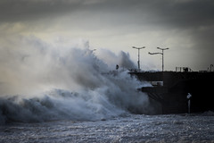 (. . .) Tags: chile blue sea sky storm water del clouds muelle mar via photojournalism documentary vergara 2016 fotoperiodismo surges marejadas