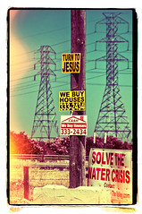 TURN TO JESUS (akahawkeyefan) Tags: signs jesus towers electrical telephonepole davemeyer