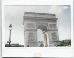 Arc de Triomphe, Paris (summertee1502) Tags: paris fujifilm arcdetriomphe instax wide210