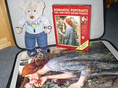 Annuver romantic paw-trait! (pefkosmad) Tags: bear ted art painting toy stuffed soft artist teddy fluffy hobby plush puzzle painter romantic leisure jigsaw preraphaelite pastime johnwilliamwaterhouse tedricstudmuffin