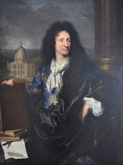 """Lens (Pas-de-Calais) - Muse du Louvre-Lens - """"Jules-Hardouin Mansart"""" (Hyacinthe Rigaud, 1685) (Morio60) Tags: lens louvrelens pasdecalais 62 muse rigaud mansart"""