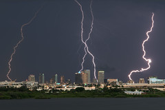 Tampa Strikes (James Boone) Tags: 2016 bay bolt bolts d750 downtown downtowntampa florida fullframe fx hillsborough jamesboone jamesboonephoto lightning lightningbolt lightningstrike lightroom mefoto nikkor70200 nikkor70200mmf28afsvrii nikkortc14eafsteleconverter nikon nikond750 oldboone rockypoint southtampa stpete stpetersburg strike strikes summer tampa tampabay tc14e teleconverter thunderstorm thunderstorms