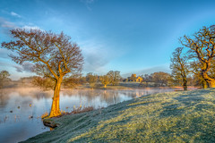 Fawsley Hall & Church (Last of the Henlys) Tags: fawsley park lake sunrise tree nikon d810