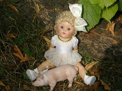 Ginny (Cossette...) Tags: 2005 toy pig toddler doll ginny vintagereproduction voguedoll caraculwig poodlecutwig tinymissjune