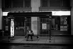 Sometimes it's hard to be alone. (pjr100) Tags: life street city urban blackandwhite bw chicago man sadness alone loneliness sad depression depressed lonely solitary