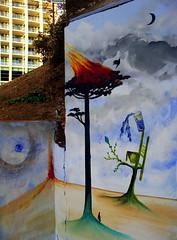 El fuego va donde quiere ir... (Felipe Smides) Tags: chile mural caos sur cuerpos fuego pintura valdivia volcan fruto muralismo incendios semilla 29marzo smides felipesmides